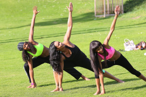 EXCLUSIVE Tami Roman and her daughters practice yoga