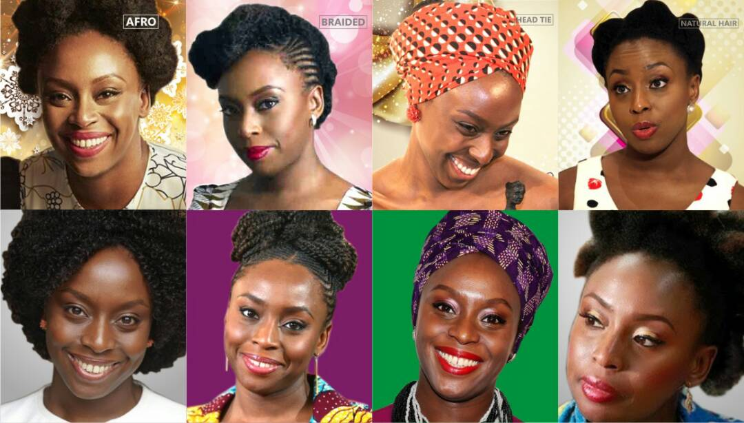 Chimamanda Adichie hairstyles and head tie
