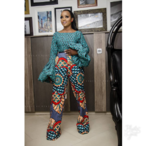 ankara blouse and trouser